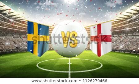 Svédország vs Anglia futball gyufa illusztráció Stock fotó © olira