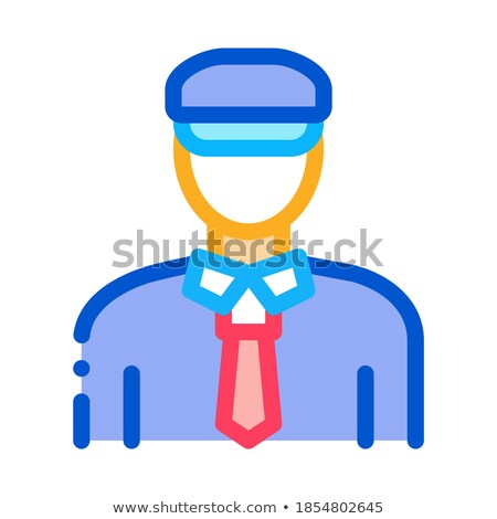 Vám rendőrség férfi ikon vektor skicc Stock fotó © pikepicture