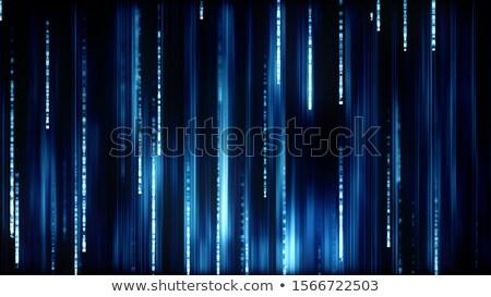 Blu particelle cadere giù tecnologia digitale abstract Foto d'archivio © SArts