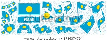 Vetor conjunto bandeira Palau criador Foto stock © butenkow