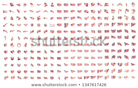 very big collection of vector flags of the Liberia Stock photo © butenkow