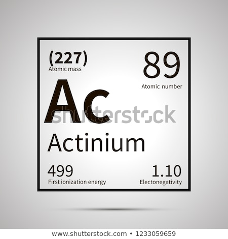 Actinium chemical element with first ionization energy, atomic mass and electronegativity values ,si Stock photo © evgeny89