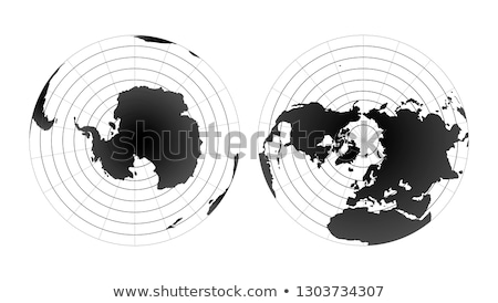 Antarctic pole globe hemisphere. World map view from space isolated on white Stock photo © evgeny89
