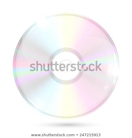 Foto d'archivio: Quattro · realistico · cd · illustrazione · bianco · computer