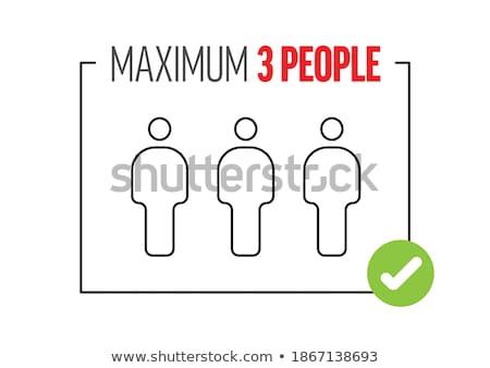 Sklep wejście zapobieganie plakat szablon Zdjęcia stock © orson