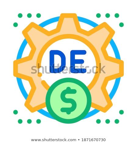 Fogyasztó pénz beállítások ikon vektor skicc Stock fotó © pikepicture