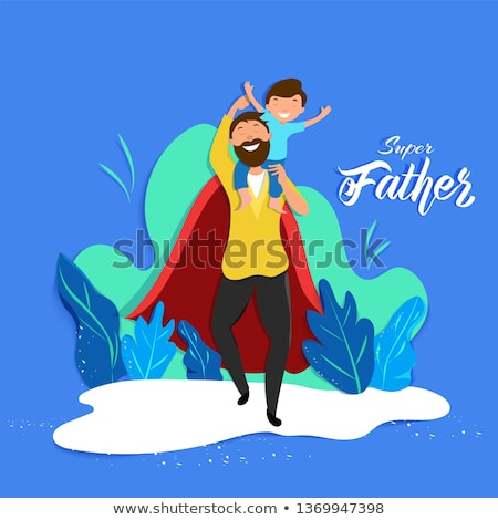 super dad message happy fathers day card design Stock photo © SArts