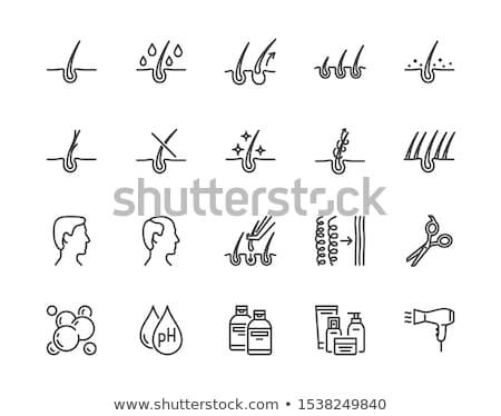 Man In Soap Suds Icon Vector Outline Illustration Stok fotoğraf © Nadiinko