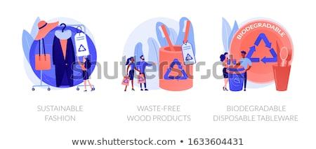 Biodegradable disposable tableware concept vector illustration Stock photo © RAStudio
