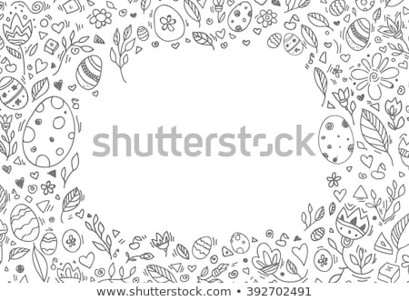 etched Easter egg Stock photo © pancaketom