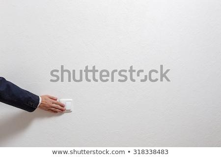 Blanche interrupteur de lumière mur Photo stock © tarczas