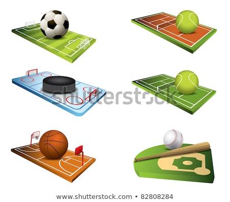 баскетбол области теннис красочный иллюстрация стадион Сток-фото © pkdinkar