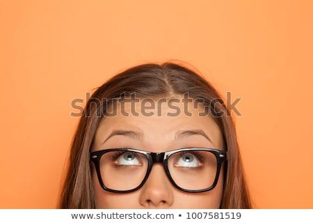olhos · frustração · fundo · meninas - foto stock © elenaphoto