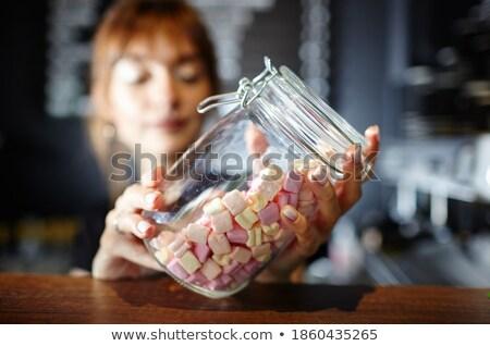 dulces · aislado · blanco · fondo · azul · diversión - foto stock © photography33