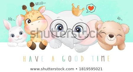 Adorable Baby Vector stock photo © indiwarm