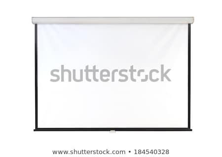 Fehér üres projektor képernyő fal illusztráció Stock fotó © Elmiko