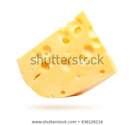 amarelo · queijo · isolado · branco · estúdio - foto stock © boroda