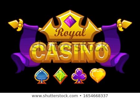 Cassino bandeira pôquer elementos vetor Foto stock © carodi