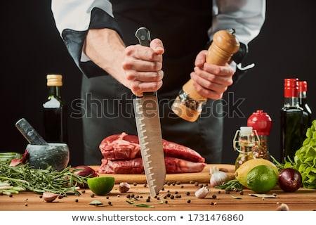 Loco chef enojado cocinar rojo cara Foto stock © stevemc