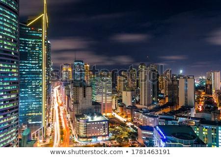 Modern finansal metro Manila Stok fotoğraf © joyr