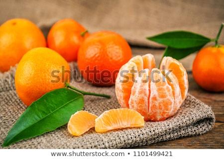 新鮮な ジューシー マンダリン オレンジ 表示 白 ストックフォト © klsbear