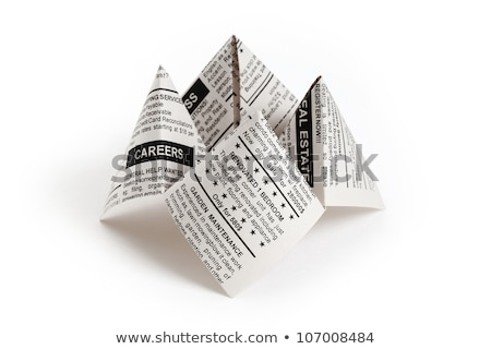 Newspaper Fortune Teller Stock photo © devon