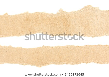 two torn cardboard pieces Stock photo © milsiart
