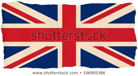 Egyesült · Királyság · zászló · öreg · izolált · fehér · papír - stock fotó © latent
