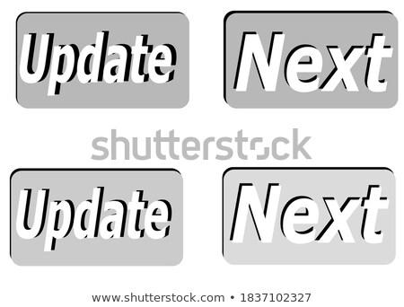 kursor · ikona · niebieski · przycisk · podpisania - zdjęcia stock © tashatuvango