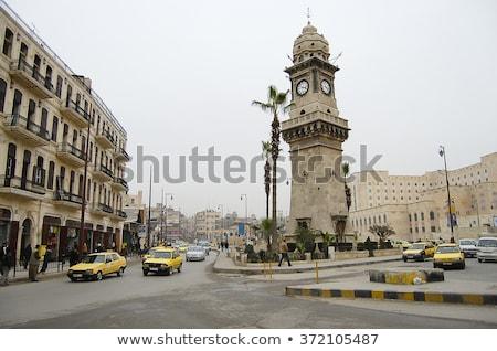 Deur Syrië ingericht stad reizen gebouwen Stockfoto © travelphotography