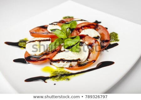 Tomates vinagre balsâmico alecrim comida folha saúde Foto stock © Melpomene