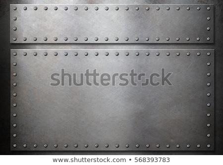 öreg páncél szürke fal középkori lovag Stock fotó © taviphoto