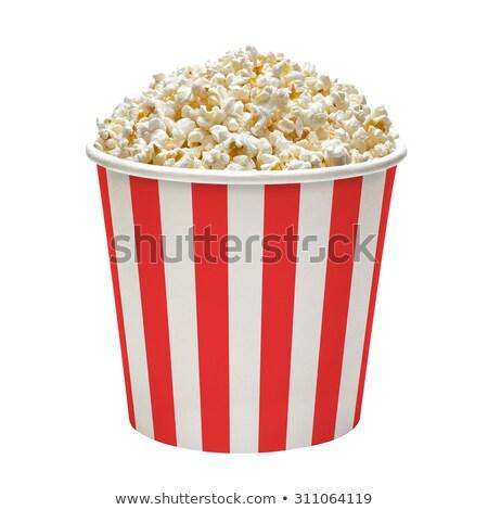 Eimer Popcorn rot seicht Stock foto © danielgilbey