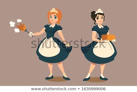 Meisjes meid sexy kostuums schoonheid vector Stockfoto © UrchenkoJulia