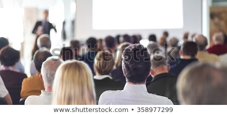 Negócio seminário palavra mão escrito verde Foto stock © stevanovicigor
