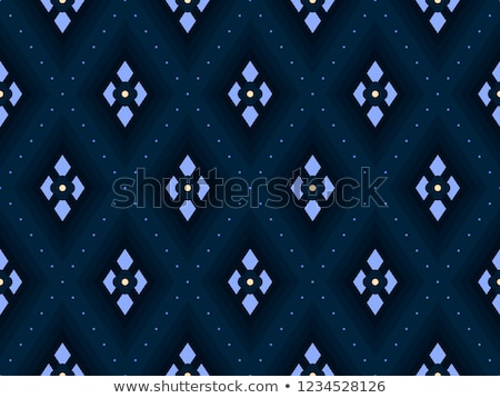 Country seamless pattern with fence and flowers stock photo © juliakuz