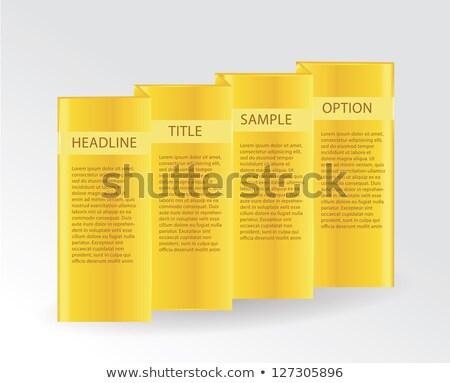Katlanmış altın plaka etiket lüks web sitesi Stok fotoğraf © vitek38