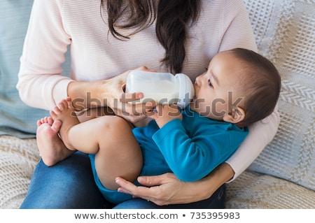 Baby butelki tle biały opieki Zdjęcia stock © cheyennezj
