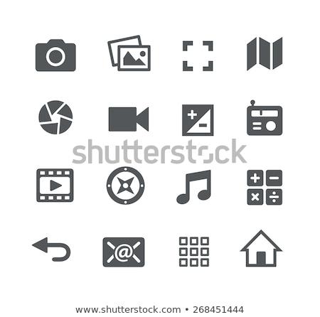 elektronik · tv · ses · vektör · ayarlamak - stok fotoğraf © filata