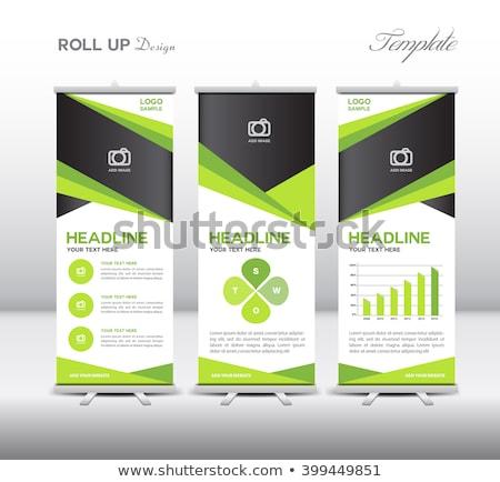 abstract green flayer Stock photo © rioillustrator
