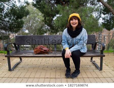 yellow bench stock photo © smuki