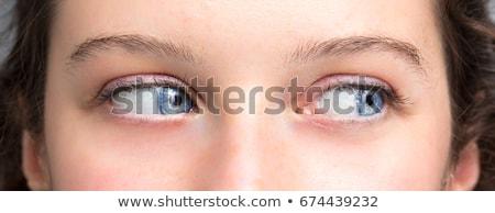 肖像 漂亮 女孩 關閉 眼 美麗 商業照片 © ra2studio