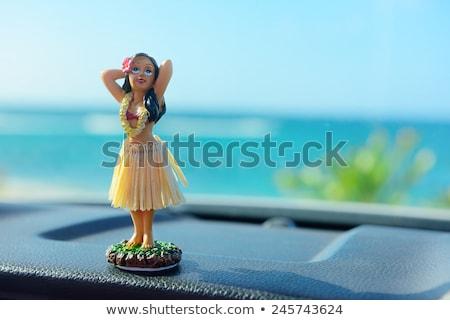gueixa · ilustração · mulher · flor · arte - foto stock © lordalea