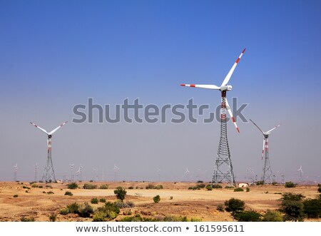 wind farm - turning windmills in India Stock photo © Mikko
