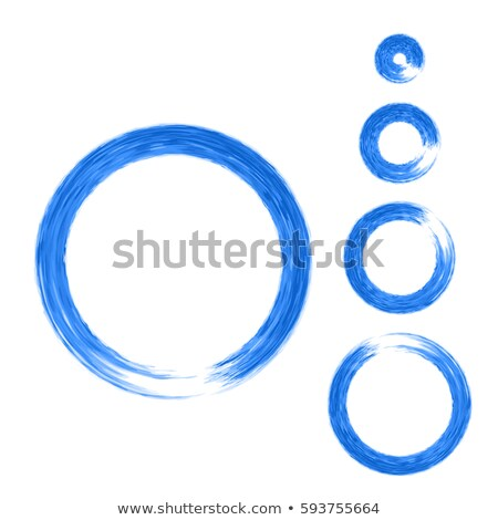 Stock photo: Blue watercolor circle. Vector banner for your design
