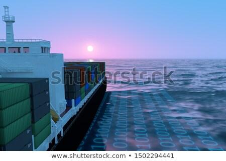 Intelligent scheepvaart globale pakket beheer levering Stockfoto © Lightsource