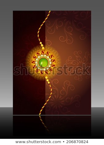 Festival Raksha Bandhan template brochure colorful illustration Stock photo © bharat