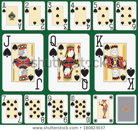 Dupla királyi ásó kártyapakli kettő különböző Stock fotó © mannaggia