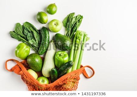 Ekolojik taze kereviz genç yaprakları gıda Stok fotoğraf © artlens