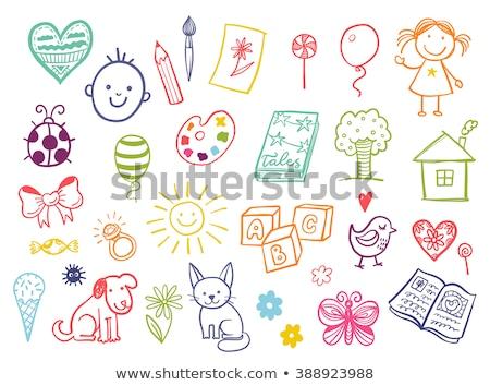 Little funny butterfly scribble Stock photo © Ustofre9